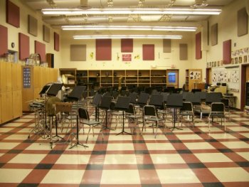 Medford High School Band room